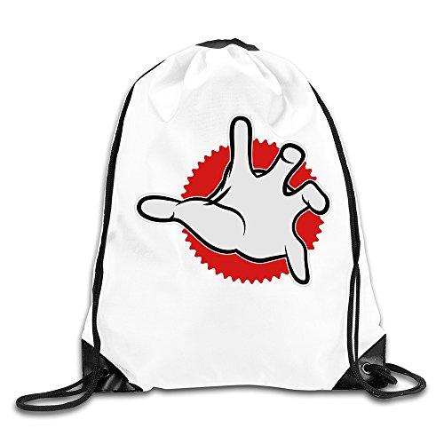 WLF Men's Women's Print Shoulder Drawstring Bag Port Bag Backpacks String Bags School Rucksack Gym Bag Get App White. (Jansport Trolley Bags compare prices)