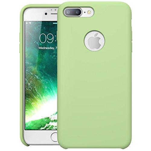 Custodia-Flessibile-iPhone-7-Plus-i-Blason-Shock-Absorbing-Qualit-Premium-di-Silicone-Foro-nella-parte-posteriore-per-poter-vedere-Logo-Apple-Apple-iPhone-7-Plus-Verde
