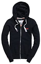 Superdry Women's Cotton Jacket (G20012XNF4_Eclipse Navy_S)