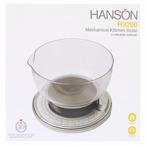 Hanson H3200 Mechanische Küchenwaage, Chrom