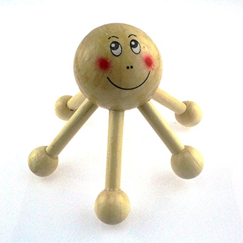 IFASHION 5pcs of Wooden Hexagonal Head Massager 5 pcs of p
