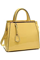 Dasein Structured Satchel Briefcase Handbag, Tadblet, iPad Bag
