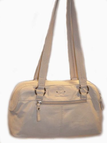 Stone Mountain Sedona Ivory Leather Bag Handbag