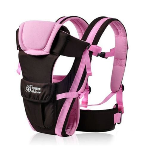 Baby Carrier Adjustable Infant Newborn Kid Comfort Wrap Rider Sling Backpack color Pink