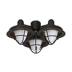 Emerson Ceiling Fan Light Fixtures LK40GES Boardwalk Cage Light Fixture, Golden Espresso Ceiling Lamp