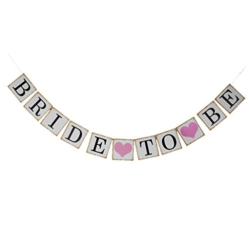 Luxurious bride to be Engagement party banner banners signs Wedding shower Bridal shower bachelorette party decorations supplies bridesmaid table garland accessories bunting favor engaged parties (Bridal Shower Paper Goods compare prices)