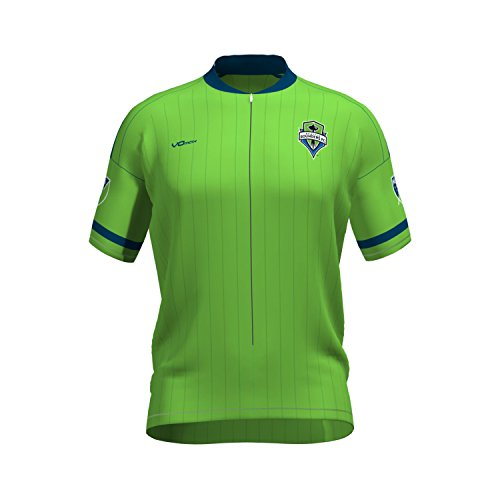 MLS Seattle Sounders FC Women's Primary Short Sleeve Cycling Jersey, X-Large, Green (Sounders Cycling Jersey compare prices)