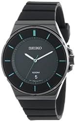 Seiko Men's SGEG23 New Collection Classic Black Ion Finish Watch