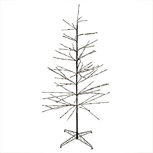 6' Led Lighted Multi-Function Christmas Twig Tree Outdoor Yard Art Decor - Warm Clear Lights