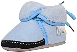 Ole Baby Ice Age Solid Soft Furry Organic Ole Toons Booties 3-9 Months