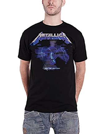 Metallica Ride The Lightning 30th Anniversary Official Mens New Black T Shirt