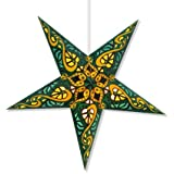 Celtic Green Paper Star Lantern