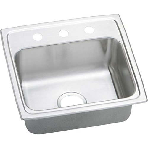 Elkay PSR19181 1-Hole Gourmet 18-Inch x 19-Inch Single Basin Drop-Inch Stainless Steel Kitchen Sink