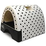 Kitty A Go-Go Polka Dot Print Litter Box