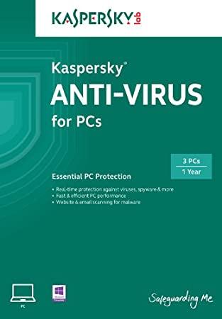 Kaspersky Anti-Virus 2014 3 User, 1 Year [Online Code]