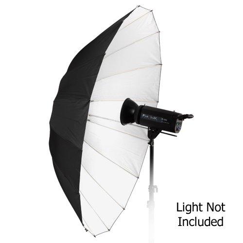 "Fotodiox Pro 16-rib, 60"" Black and White Reflective Parabolic Umbrella"