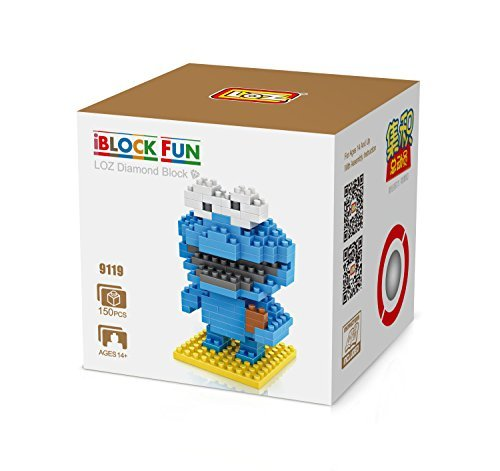 LOZ Diamond Blocks Nanoblock Sesame Street Cookie Monster Educational Toy 150pcs