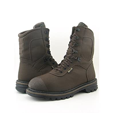 "ROCKY 9204 8"" Cornstalker Brown Boots Shoes Mens 9"