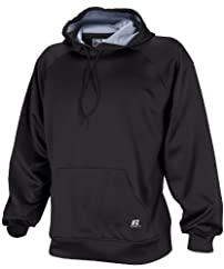 Russell Athletic Men's Technical Performance Fleece Pullover Hoodie - Black/Steel - XL