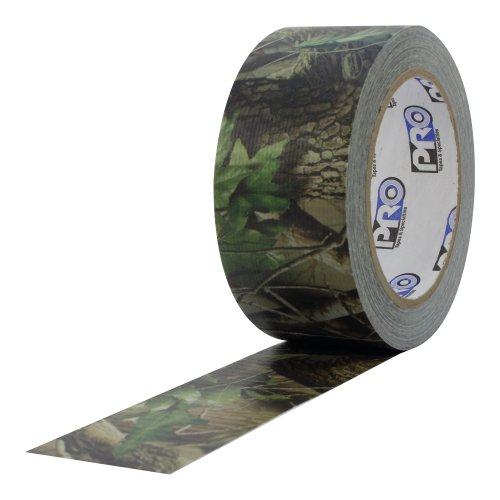"""ProTapes Pro Camo Duct Polyethylene Film with Cloth Carrier Backing Premium Camouflage Tape, 20 yds Length x 2"""" Width, Real Tree Green Pattern (Pack of 1)"""