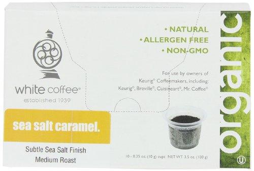 White Coffee Single Serve Coffee, Sea Salt Caramel,