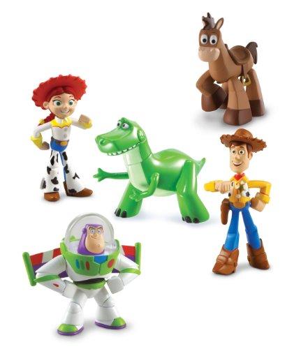 Buy Low Price Mattel Disney Toy Story 3 Exclusive 5 Piece PVC Mini Figurine Collector Set Train Rescue Rex, Hero Buzz Lightyear, Walking Woody, Jessie & Bullseye Figure (B00314QOO8)
