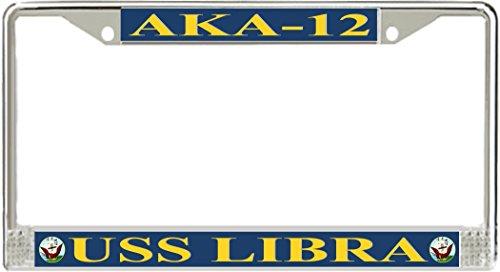 USS Libra AKA-12 License Plate Frame (Libra License Plate Frame compare prices)