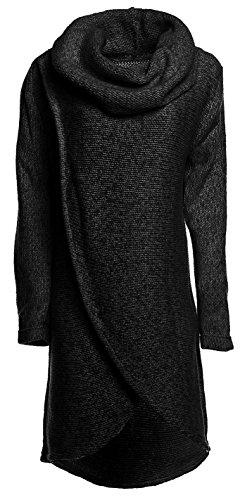 glamour-empire-donna-maglione-pullover-a-strati-avvolgerlo-collo-ad-anello-359-grafite-melange-it-42