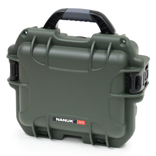 Nanuk 905 Case with Padded Divider (Olive)