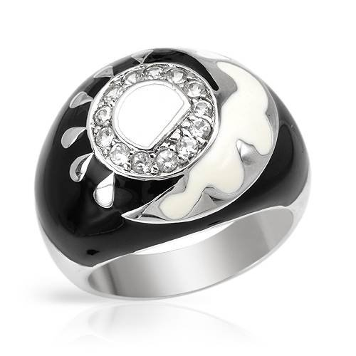 Ring With Genuine Topazes Beautifully Designed in Two tone Enamel and 925 Sterling silver. Total item weight 9.4g (Size 7)
