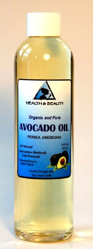 Avocado Oil Organic Carrier Cold Pressed 100% Pure 8 oz