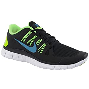 Nike Mens Free 5.0+ Running Shoes Black/Blue Hero/Flash Lime/White 579959-043 Size 11.5