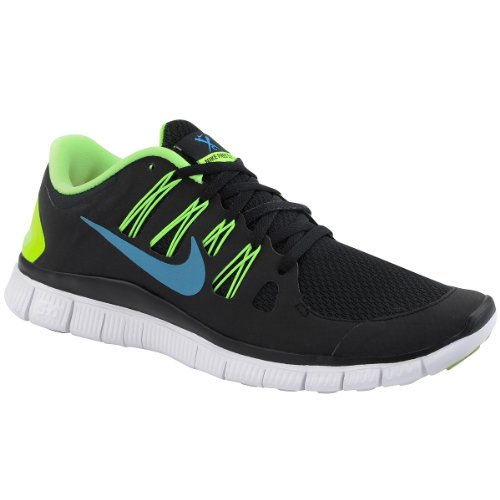 big sale b1ea6 d9a07 Nike Mens Free 5 0 Running Shoes Black Blue Hero Flash Lime White 579959  043 Size 11 5