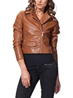 OSLEY PARIS Chaqueta Biker With Pocket Detail (Marrón)