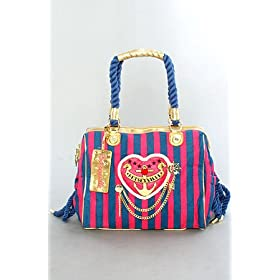 Betsey Johnson The Satchel in Navy Sailor Girl,Bags (Handbags/Totes) for Women