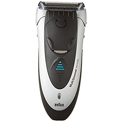 Braun Wet & Dry Multi Groomer MG5090, All in one electric trimmer, clipper, razor for men