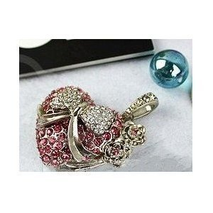 High Quality 8 GB Heart Shape Crystal Jewelry USB Flash Memory Drive Necklace by T &  J