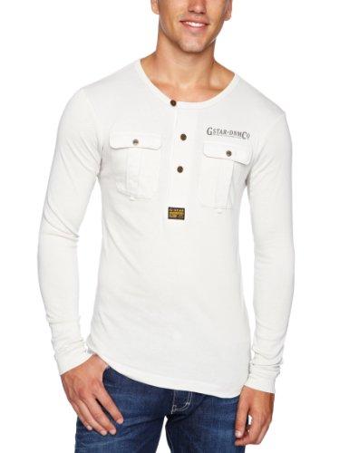G Star Co Rory Granddad Long Sleeve Men's T-Shirt Porcelain Large