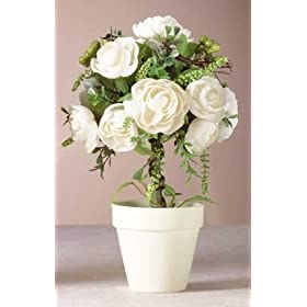 8 WEDDING ROSE TOPIARY DECORATIONS CENTERPIECES ROSES