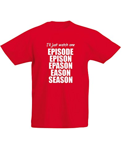 I'll Just Watch One Episode, Kids Printed T-Shirt - Red/White 9-11 Years (Supernatural Season 1 Episode 9 compare prices)