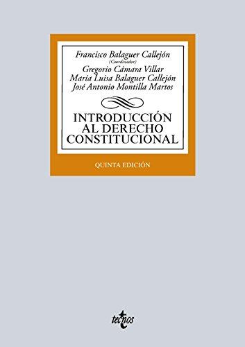 Introducción Al Derecho Constitucional (Derecho - Biblioteca Universitaria De Editorial Tecnos)