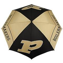 Buy NCAA Purdue Boilermakers 62-Inch WindSheer Hybrid Umbrella by Team Effort