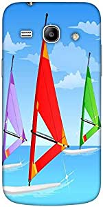 Snoogg Sail Board Sky 2561 Hard Back Case Cover Shield For Samsung Galaxy Core 2