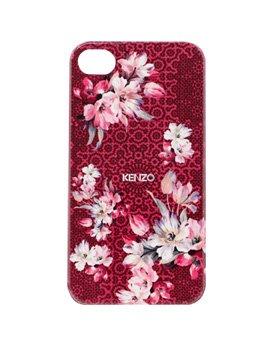 Coque Kenzo Nadir rouge à motif fleuri rose pour iPhone 4/4S