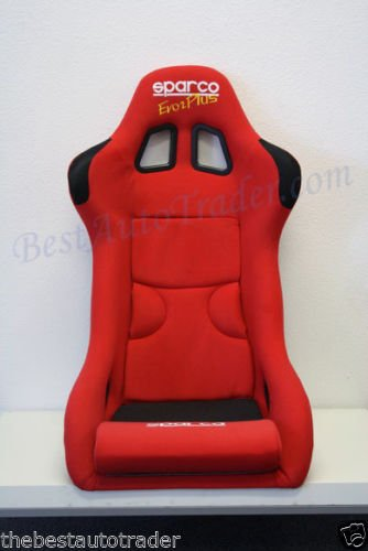 Pair of Sparco EVO 2 Plus Racing Seats Red Cloth w/ Black Frp Gias Jdm Bucket (Red Bucket Seats For Racing compare prices)