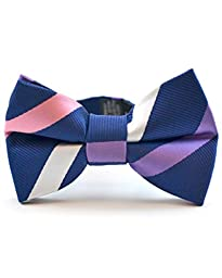 Littlest Prince Couture Sherbert and Navy Stripe Infant/Youth Bow Tie 0-8 Years
