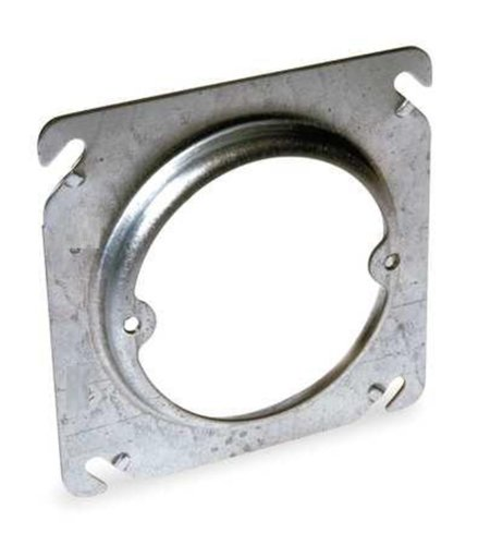 Steel City 401-Cs Raised 1/4-Inch Raised Pre-Galvanized Steel Square Box Ring With The Center Blanked With Tapped Ears On 2-23/32-Inch Centers