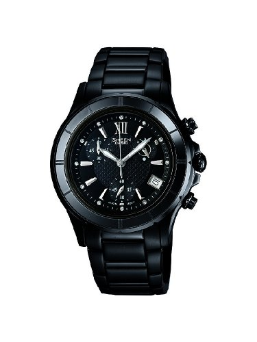 Casio Women's Sheen SHE5516BD-1A Black Stainless-Steel Quartz Watch with Black Dial