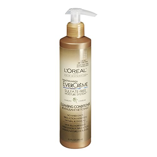 L'Oreal Paris EverCreme Sulfate-Free Moisture System Cleansing Conditioner, Camelina, 8.3 fl. Oz. (Wen Lavender Conditioner compare prices)