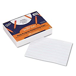 Multi-Program Handwriting Paper, 5/8\'\' Long Rule, 10-1/2 x 8, White, 500 Shts/Pk, Sold as 1 Package